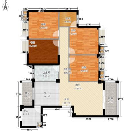 香岸华府4室0厅1卫1厨160.00㎡户型图