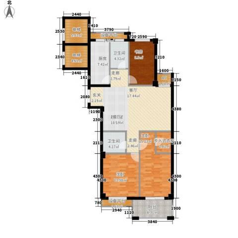 中泰锦园3室0厅2卫1厨129.00㎡户型图