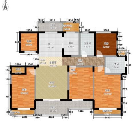 宇恒明月星城4室1厅2卫1厨157.00㎡户型图