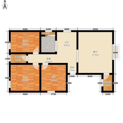 嘉福小区3室1厅0卫0厨138.00㎡户型图