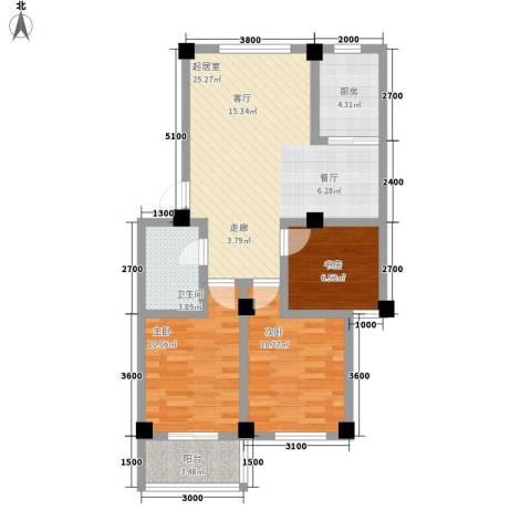 颐青园3室0厅1卫1厨86.00㎡户型图
