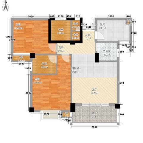 香岸华府2室0厅1卫1厨111.00㎡户型图