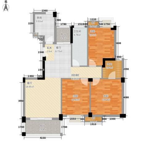 香岸华府3室0厅1卫1厨132.00㎡户型图