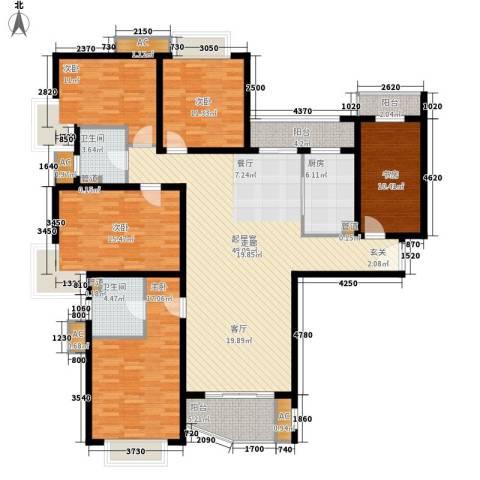 中远两湾城四期5室0厅2卫1厨206.00㎡户型图