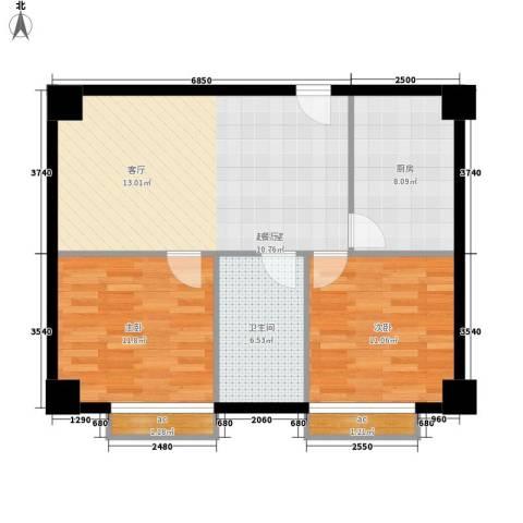 中华大厦2室0厅1卫1厨72.00㎡户型图