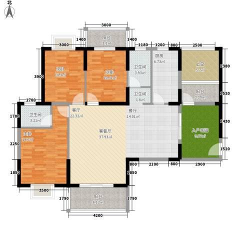 水岸・新城3室1厅2卫1厨141.00㎡户型图