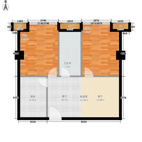 中华大厦2室0厅1卫1厨78.00㎡户型图