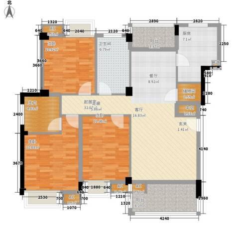 香岸华府3室0厅1卫1厨143.00㎡户型图