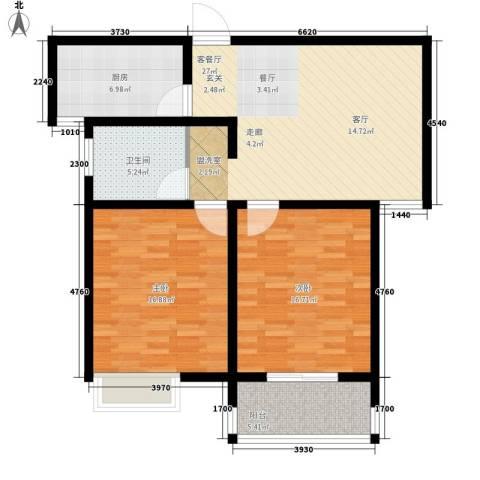 爱琴海花园2室1厅1卫1厨111.00㎡户型图