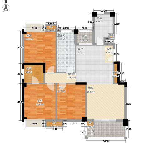 香岸华府3室0厅1卫1厨146.00㎡户型图