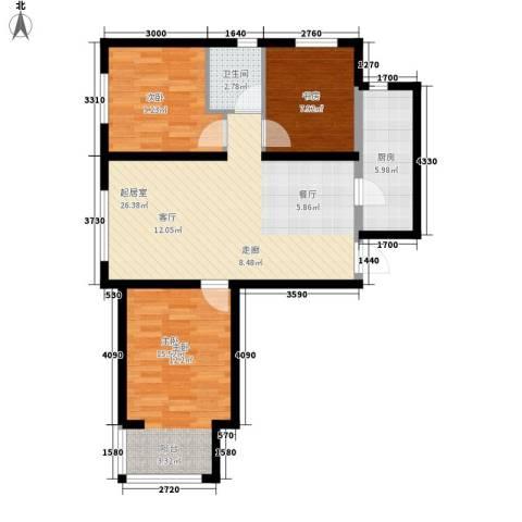万晟御水湾3室0厅1卫1厨105.00㎡户型图