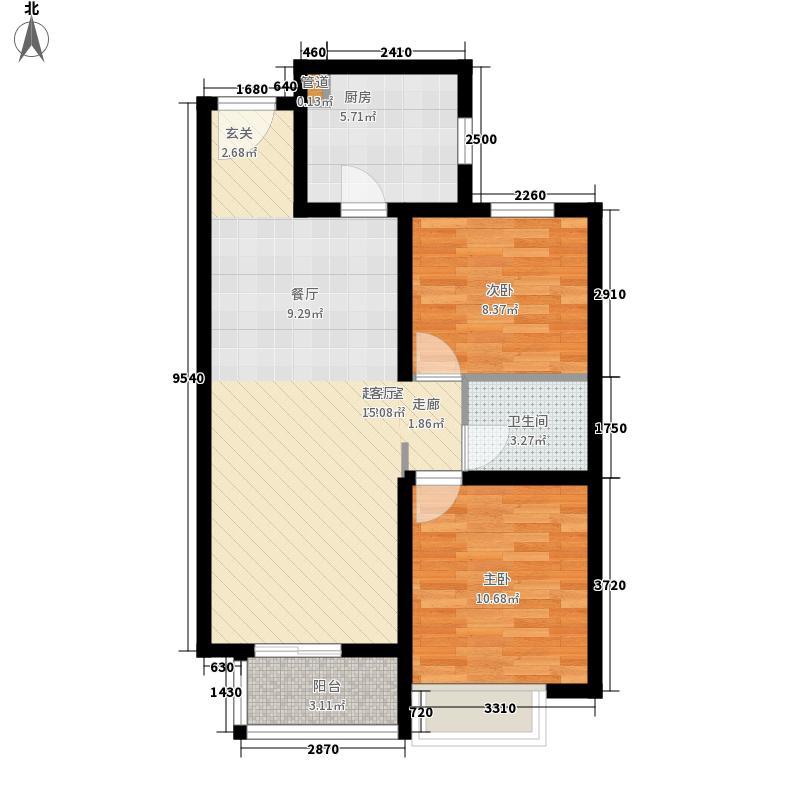 丹东万达广场A1-23、24号楼-A1户型