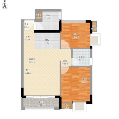 金碧雅苑2室1厅1卫1厨82.00㎡户型图