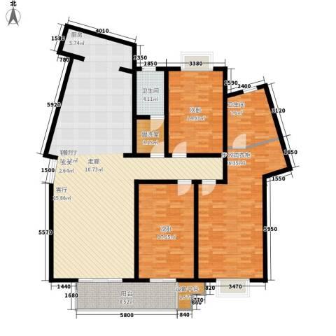 名人国际 TOP世界观3室1厅2卫0厨208.00㎡户型图