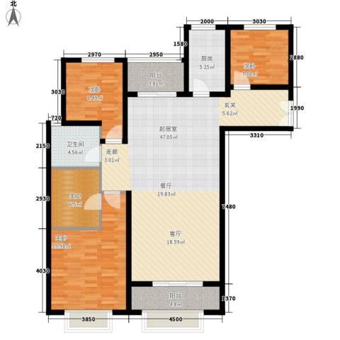 丹东万达广场3室0厅1卫1厨148.00㎡户型图