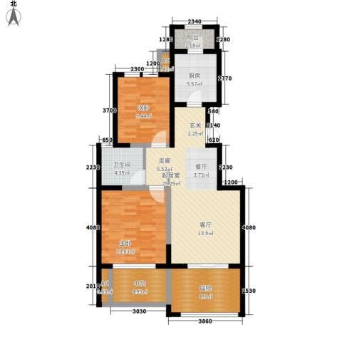 紫金花园2室0厅1卫1厨109.00㎡户型图