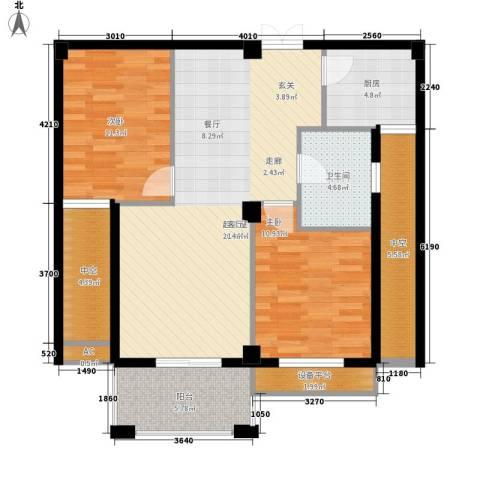 中泰锦园2室0厅1卫1厨90.00㎡户型图