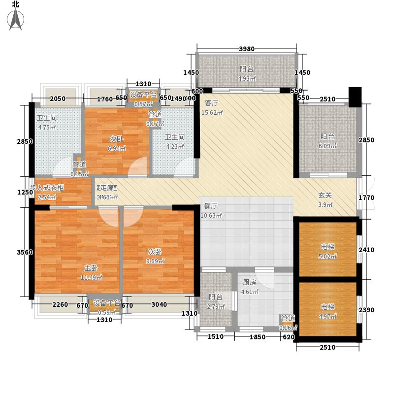 保利西雅图118.00㎡3栋01和06单位户型