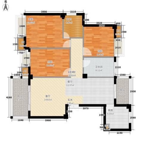 香岸华府3室0厅1卫1厨137.00㎡户型图