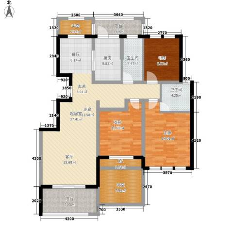 紫金花园3室0厅2卫1厨157.00㎡户型图