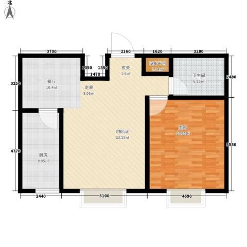 新悦轩1室0厅1卫1厨96.00㎡户型图