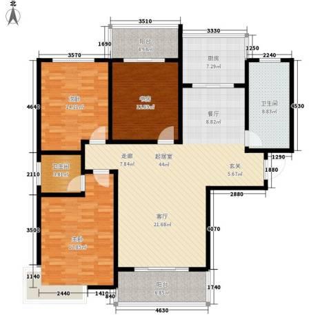 地久艳阳天3室0厅2卫1厨135.00㎡户型图