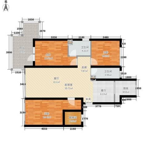 锦绣公馆3室0厅2卫1厨143.00㎡户型图