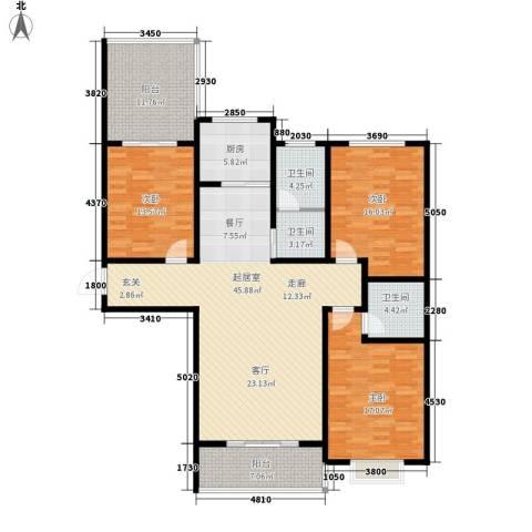地久艳阳天3室0厅3卫1厨144.00㎡户型图