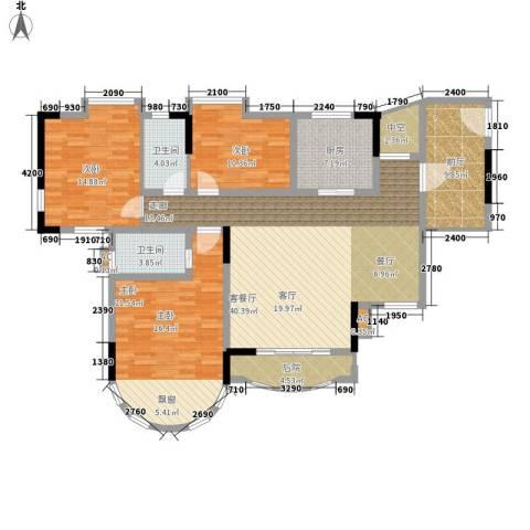 茗雅荟3室1厅2卫1厨136.27㎡户型图