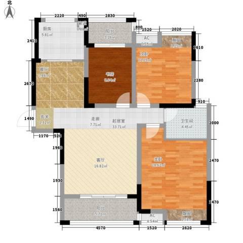 鑫天格林香山3室0厅1卫1厨108.00㎡户型图