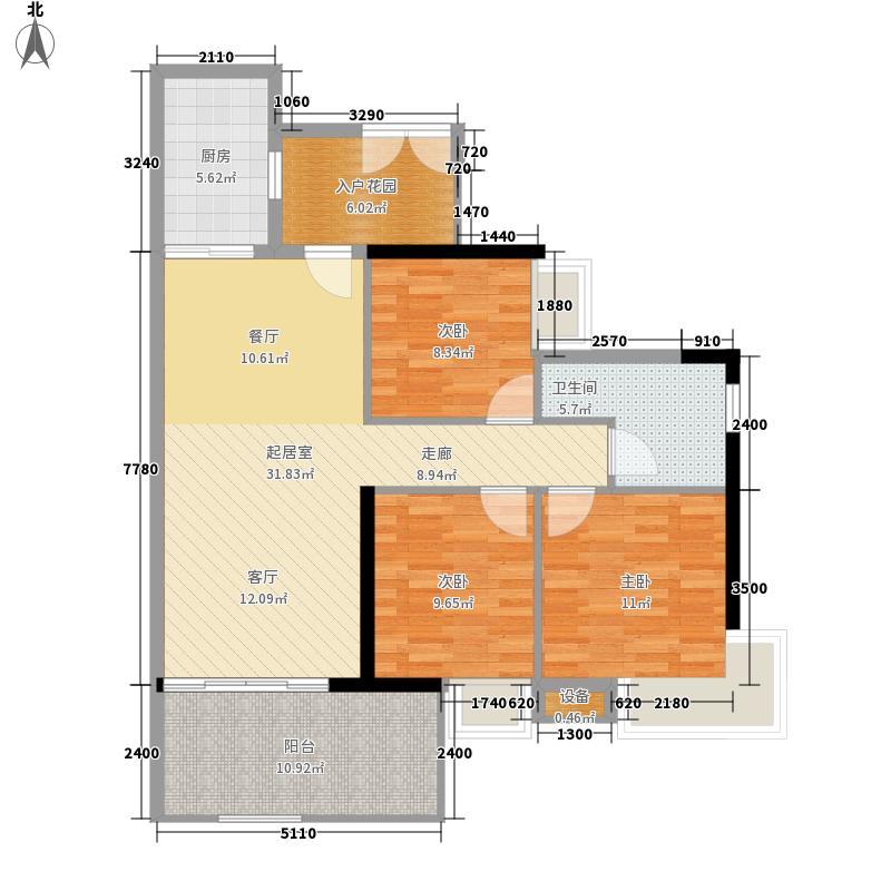 翠城花园101.00㎡21栋5-33层01单面积10100m户型