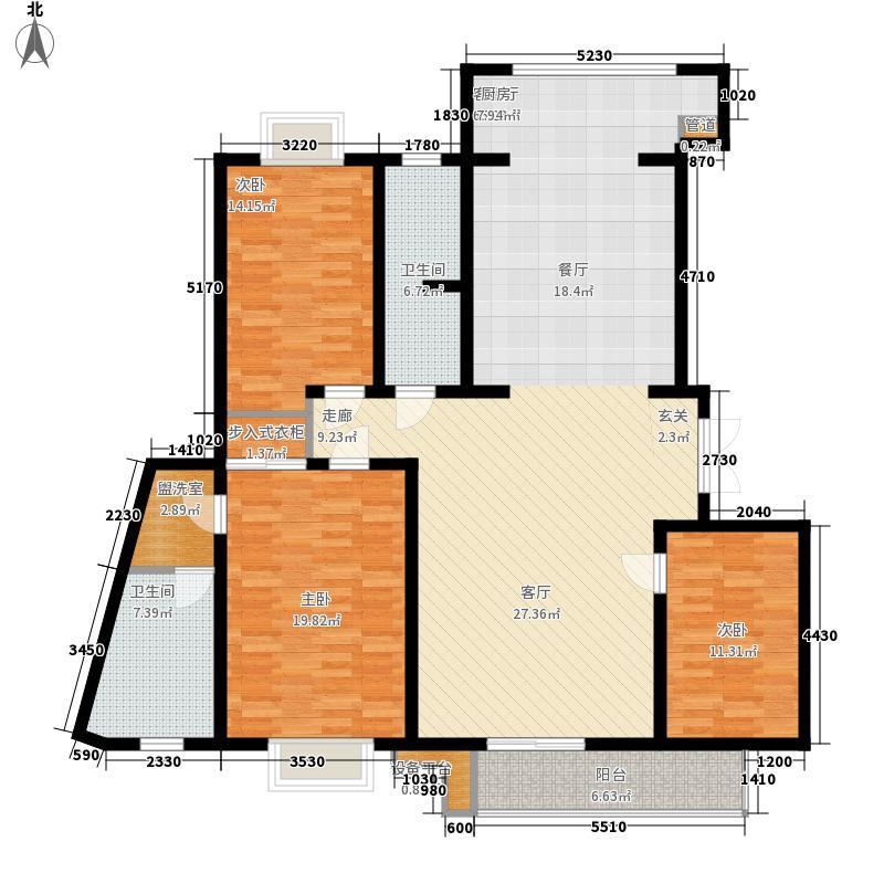 名人国际 TOP世界观203.66㎡02户型A单元三室两厅两卫户型3室2厅2卫