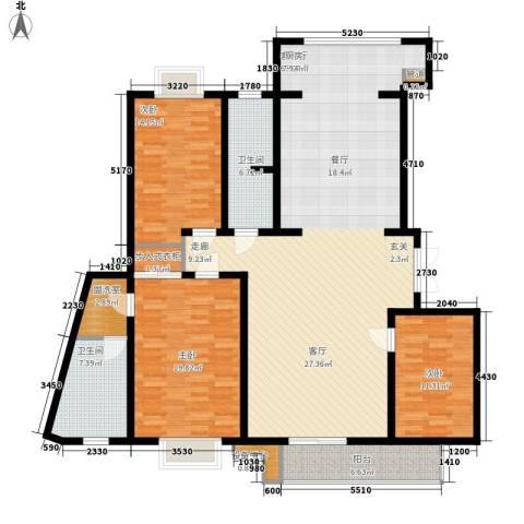 名人国际 TOP世界观3室1厅2卫0厨204.00㎡户型图
