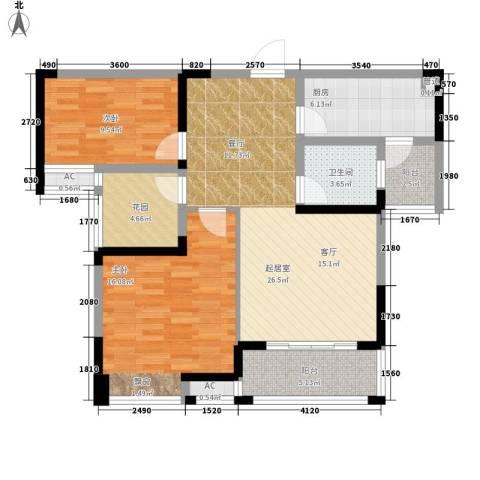 鑫天格林香山2室0厅1卫1厨88.00㎡户型图