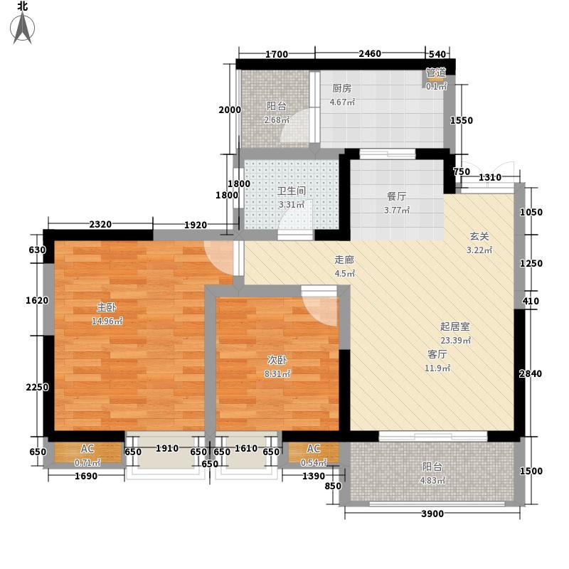 兴茂盛世北辰67.00㎡四期11号楼面积6700m户型