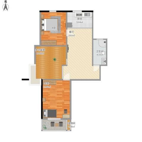 瀛嘉汇2室1厅1卫1厨94.00㎡户型图