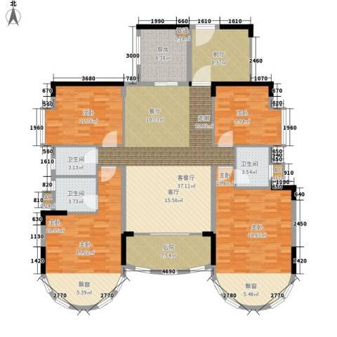 茗雅荟4室1厅3卫1厨165.00㎡户型图
