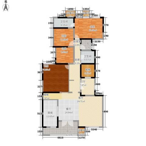万科公园5号4室0厅2卫1厨213.00㎡户型图