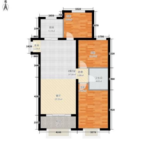 丹东万达广场3室0厅1卫1厨120.00㎡户型图