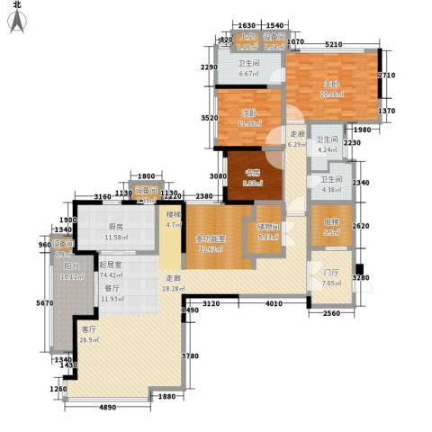 万科公园5号3室0厅3卫1厨208.00㎡户型图