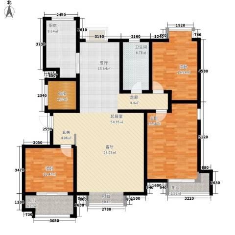 金辰富海广场3室0厅1卫1厨140.00㎡户型图