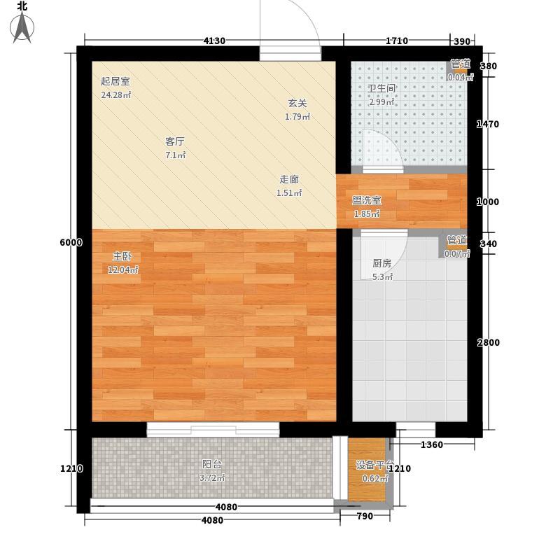 维多利亚夏郡55.80㎡三期18号楼C户型