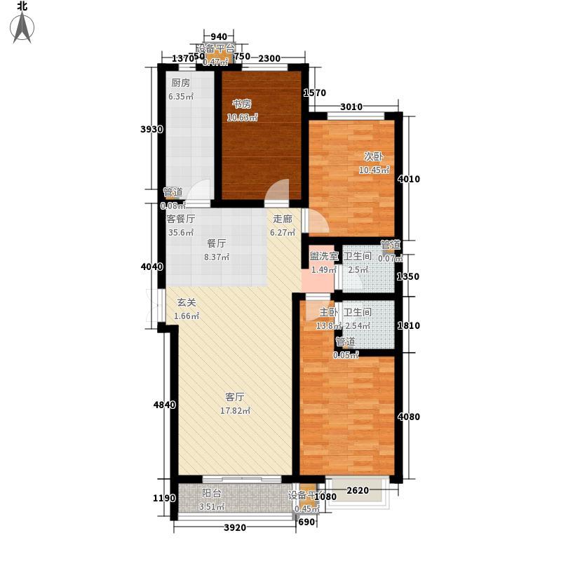 维多利亚夏郡136.00㎡三期18号楼B户型