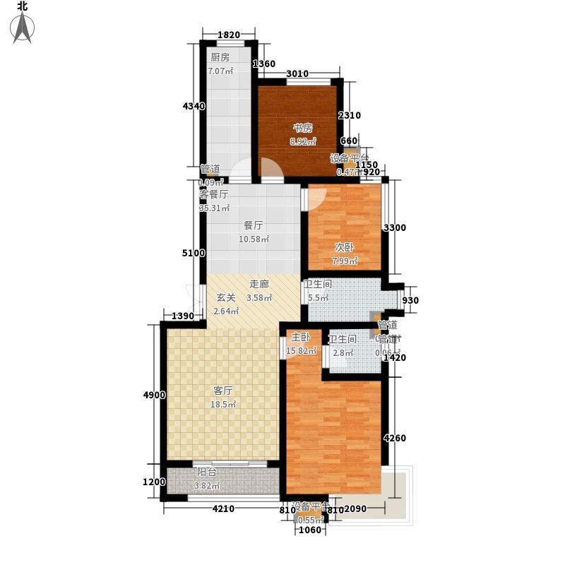 维多利亚夏郡132.50㎡已售完三期21号楼A户型