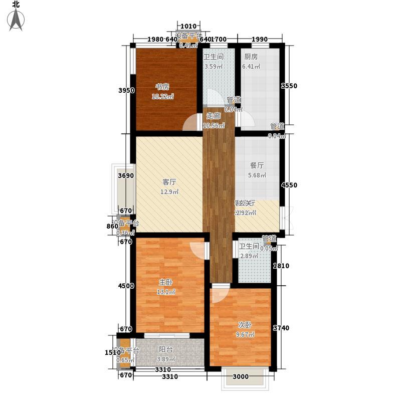 维多利亚夏郡134.80㎡三期22号楼A1户型