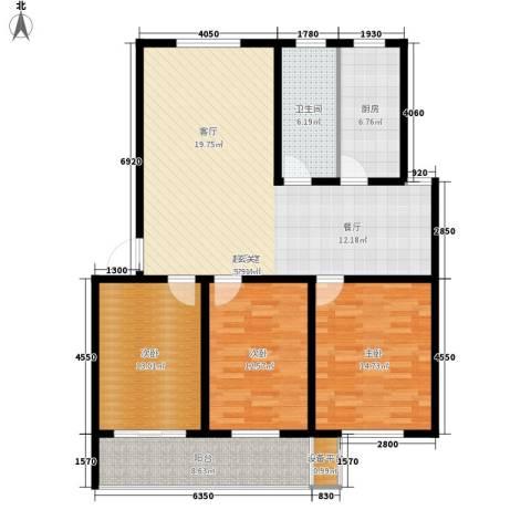 银河花园3室0厅1卫1厨141.00㎡户型图