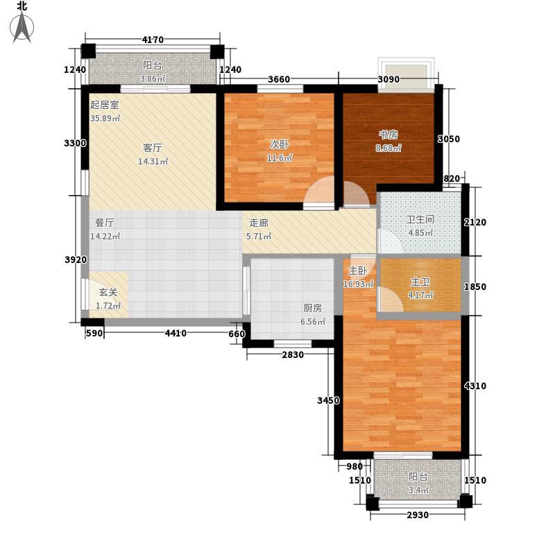 天洁国际城-华沙城房型图B08户型