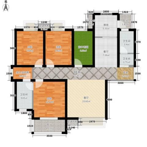 鼎盛国际3室1厅3卫1厨147.00㎡户型图