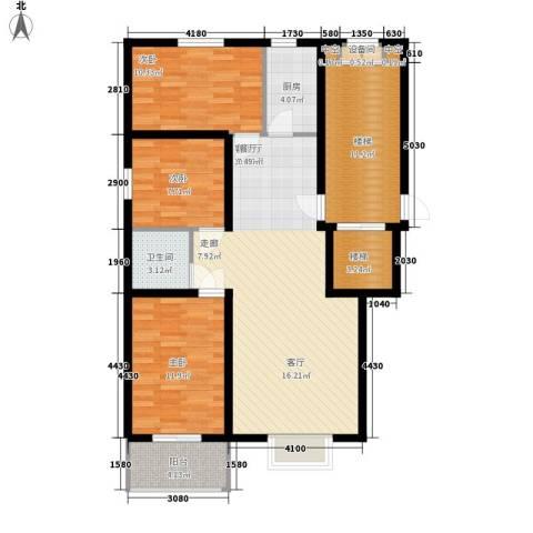 橄榄城3室1厅1卫1厨101.00㎡户型图