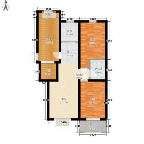 橄榄城2室1厅1卫1厨86.00㎡户型图